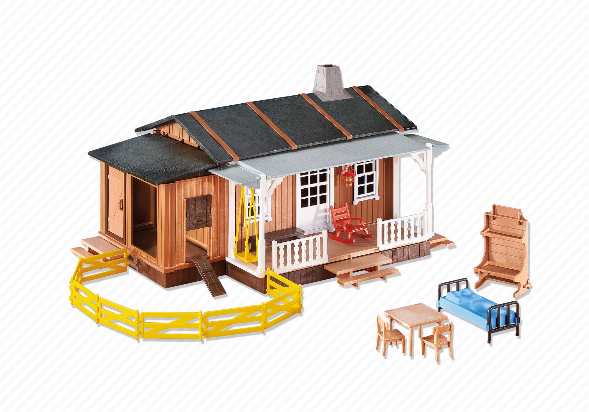 a black coal stove with hose for farm//ranch Playmobil western